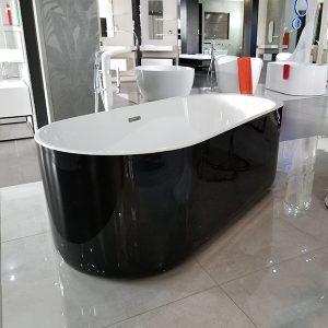 Piave (Black) – Freestanding Bath Black