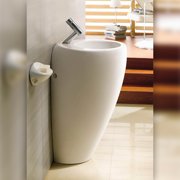 Round Pedestal Bathroom Basin – Luna