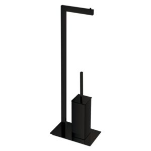 black bathroom towel rail