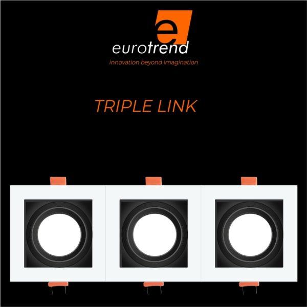 triple LED downlight