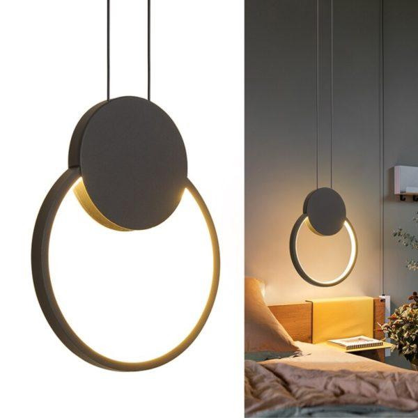round LED pendant light