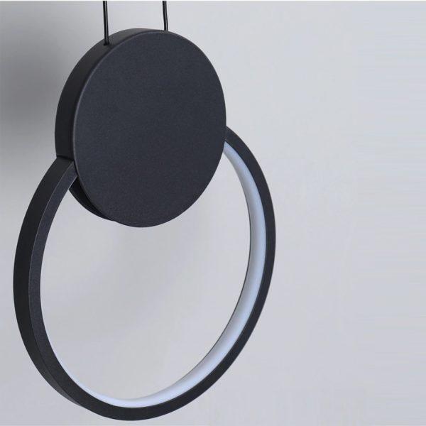 Modern round LED pendant light