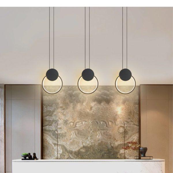 Stylish round LED pendant light