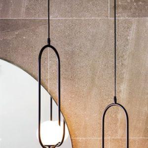 Oval LED ceiling light